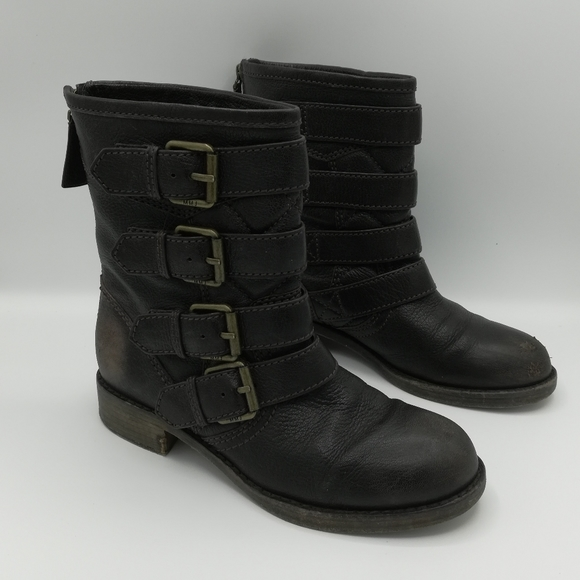 Marc by Marc Jacobs Leather Moto Boots w/ Buckles